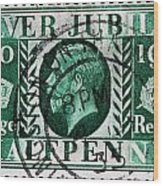old British postage stamp Wood Print