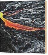 River Of Molten Lava Wood Print