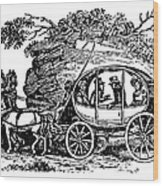 Stagecoach, 19th Century Wood Print