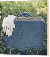 Suitcase Wood Print
