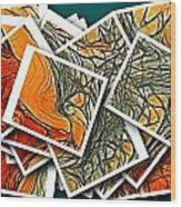 The Art Abstract  Wood Print