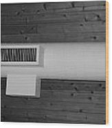 White Pipe Wood Print