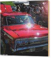 62 Chevy Impala Ss Back Wood Print