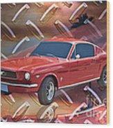 66 Fastback Wood Print