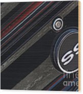 67 Black Camaro Ss Gas Tank-8019 Wood Print
