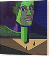 671 -   Mighty Diva Wood Print by Irmgard Schoendorf Welch