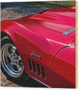 69 Red Detail Wood Print