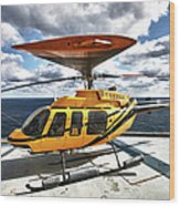 A Bell 407 Utility Helicopter Wood Print