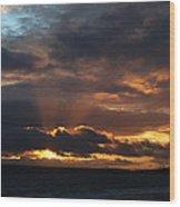 Bournemouth Sunset Wood Print