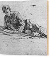 Civil War: Soldier Wood Print