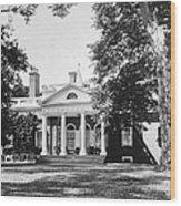 Jefferson: Monticello Wood Print