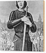 Joan Of Arc, French National Heroine Wood Print