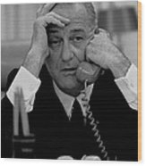 President Lyndon Johnson Wood Print