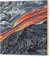 River Of Molten Lava Wood Print