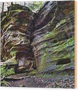 Rock House Wood Print