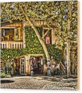Sedona Tlaquepaque Shopping Center Wood Print