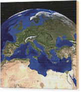 The Blue Marble Next Generation Earth Wood Print