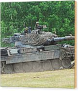 The Leopard 1a5 Main Battle Tank Wood Print by Luc De Jaeger