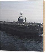 The Nimitz-class Aircraft Carrier Uss Wood Print