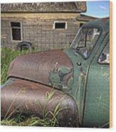 Vintage Farm Trucks Wood Print