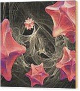 Virus Research, Conceptual Artwork Wood Print