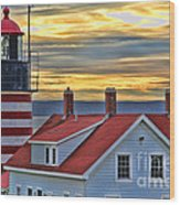 West Quoddy Head Lighthouse 3822 Wood Print
