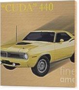 70 Cuda Wood Print