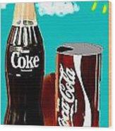 70's Coke Wood Print