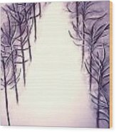 71st Street In The Snow Wood Print