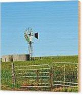 Windmill Water Pump Wood Print