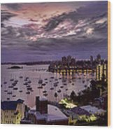 7th Floor View Macleay Street Potts Point Sydney Early Morning Wood Print