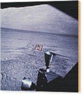 Apollo Mission 17 Wood Print