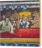 8 Ball And Beer Wood Print