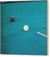 8 Ball In Side Pocket Wood Print