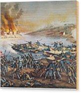 Battle Of Fredericksburg Wood Print