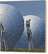 Concentrating Solar Power Plant Wood Print
