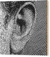 Human Ear Wood Print