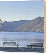 Lake Maggiore Wood Print by Joana Kruse