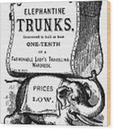 Mortised Cut, 19th Century Wood Print