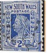 old Australian postage stamp Wood Print