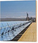 Solar Power Plant, California, Usa Wood Print
