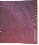 Star Trails Wood Print