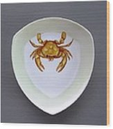 866 2 Part Of Crab Set 1 Wood Print by Wilma Manhardt