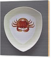 866 3 Part Of Crab Set 1 Wood Print