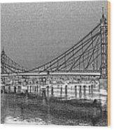 Albert Bridge London Wood Print