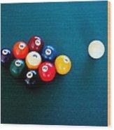 9 Ball Wood Print