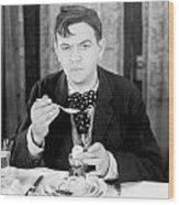 Film Still: Eating & Drinking Wood Print