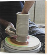 Pottery Wheel, Sequence Wood Print