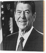 Ronald Reagan (1911-2004) Wood Print by Granger