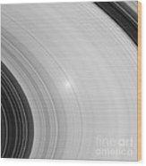 Saturns Rings Wood Print by NASA / Science Source